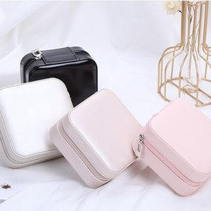NEW Travel Jewelry Box Organizer PU Leather Display Storage Case For Necklace Earrings Rings Jewelry Holder Gift Case Storage Boxes T500200