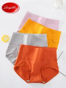Plus Size 4XL 4Pcs lot Women Cotton Underwear High Waist Panties Body Shaper Lingerie Breathable Female Slimming Control Panties