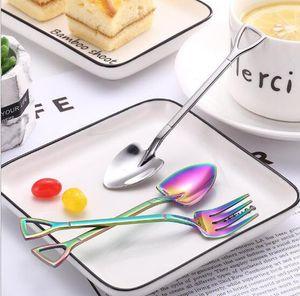 Creative Dessert Shovel Spoon Honey Spoon Creative Small Shovel Spoon Factory Direct