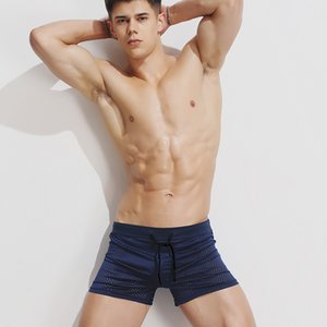 Sexy Underwear Cueca Boxer Short Men Mesh Breathable Shorts Men's Swimwear Boxers Panties Shorts Sexy Bikini ffor Guy