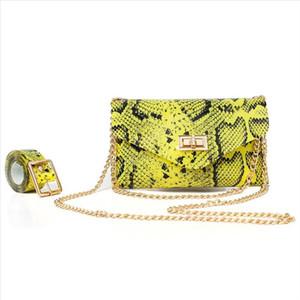 Pu Leahter Waist Bag Famal Fashion Waist Belt Women Waist Pack Serpentine Fanny Pack Leather Fashion Snake Skin Bag