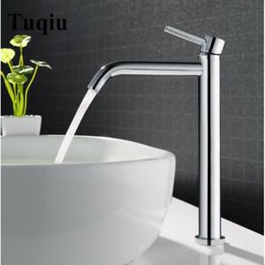 Vidric Tuqiu haute qualité bain Grand évier salle de bain robinet mélangeur mince eau chaude et froide lavabo robinet salle de bain simple robinet d'évier