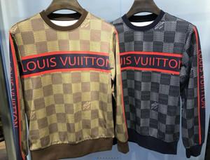 20FW otoño invierno nuevo estilo Marsella rayas letras impresas algodón suéter de cuello redondo diseñador de los hombres de alta calidad informal suéter con capucha Sw