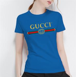 2020 El nuevo diseñador de las mujeres de lujo de moda de verano Mujeres camiseta de lujo camisa más del tamaño de manga corta con cuello en V mujeres Ropa Tops tamaño M-3XL BLFC