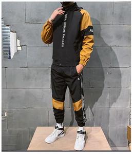 Panelled Fashion Suits Clothes Mens Designer Letter Embroidery Tracksuits Sport Style Spring Autumn 2pcs Sets Colors