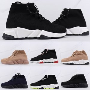 Men women socks speed training shoes outdoor coach black knit sneakers high quality fashion lace-up elastic shoes
