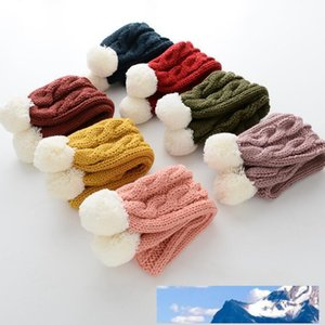 New warm children scarf pure color knit scarves boy and girl comfortable woolen yarn neckerchief multicolor free shipping