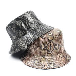 KASURE Unisex Snake Crocodile Pattern Bucket Hat Summer Outdoor Sunscreen Fishman Caps Women Men Hip Hop Fashion Street Hats