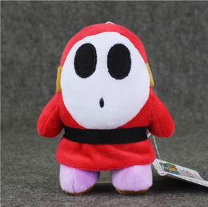 14см Ужин Марио Shy Guy Плюшевые игрушки Мягкие плюшевые Фаршированная игрушки Кукла с присоской для детей Рождественский подарок Safty свободной перевозкы груза EMS