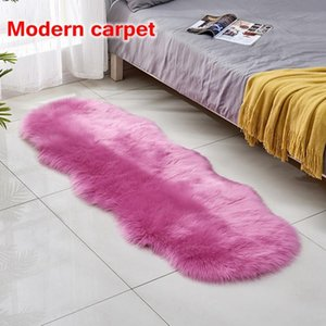 Carpets for Children's room artificial fur rugs bed room bedside floor mats solid and fluffy soft artificial sheepskin