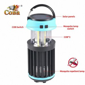Led uv Mosquito repellent lamp portable tent light cob handle solar 4 modes torch usb rechargeable built-in battery adjustable er9N#
