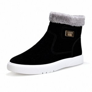 2019 Nouveau plat talon Hommes Bottes chaud Chaussures Homme à tête ronde solide Mode Hommes Couleur hiver Chaussures Casual Taille 39 44 Over The Cuissardes Co MOzf #