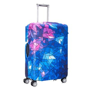 Colorful And Beautiful Suitcase Protective Cover Travel Case Cover Leather Protective Healthy Stretch Cloth Covers
