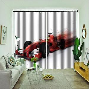 Decoração Sala cortina desenhos animados Curtain For Kids quarto Impresso blackout cortinas de seda 3D