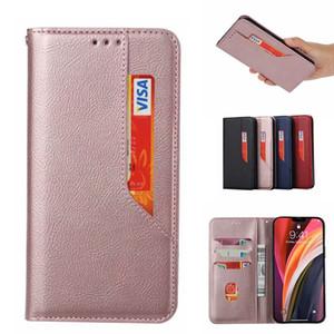 Multi-Kartensteckplatz Leder-Mappen-Telefon-Kasten für Xiaomi Redmi Anmerkung 9 Pro 9A 9s Mi Anmerkung 10 Pro Motorola Moto Edge-G 5 Plus Abdeckungs-Fälle