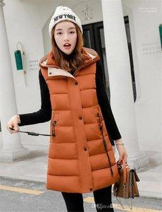 Designer Frauen Daunenweste Thick Mtlg Normallack mit Kapuze beiläufige Damen Mäntel Mode Weibliche Oberbekleidung Winter-