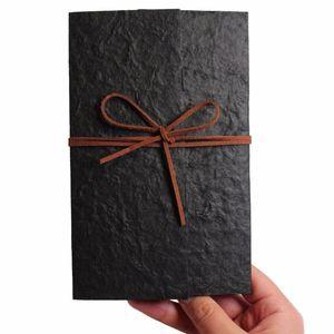 Invitations de mariage vintage noir avec invitations enveloppes élégantes pour thème de mariage unique rustique carte d'invitation - Ensemble de 30