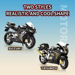 Japon Suzuki, İngiliz Triumph 01:18 alaşım motosiklet Alaşım motosiklet güzel tasarlanmış detayları stil serin küçültülebilinir