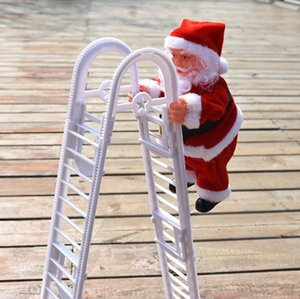 Christmas Santa Claus Electric Climb Double Ladder Hanging Doll Decoration Christmas Tree Ornaments Xmas Toys Gifts Sea Shipping AAB1773