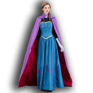ok3FK papel congelado cosplay serviço Anna Marseday serviço traje branco Princesa roupas jogo adulto traje Snow Princess