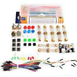 Piezas genérico paquete para Arduino módulo kit + 3.3V / 5V + MB-102 830 puntos de tablero +65 cables flexibles + caja de cable de puente