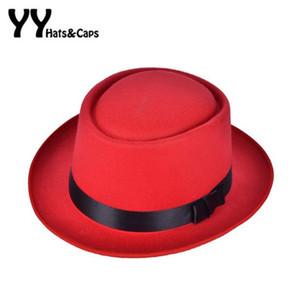 Retro nuove donne feltro Fedoras Pork Pie Hat Crushable Breaking Bad Hat Walter Uomo Trilby Wool Cap Chapeu de Feltro 6 colori
