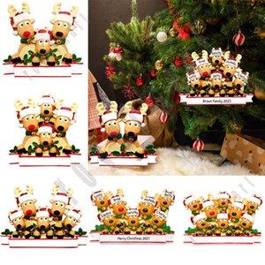 Bendiciones ornamento de la Navidad DIY apellido colgante PVC Elk árbol de Navidad Colgante Suministros del árbol de navidad colgante