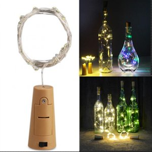 Cgjxs Edison2011 Şarap Şişesi Işık Mantar Şekli Pil Bakır Tel Işıklar Led Gece Peri Işık Lambası