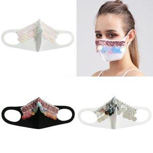 Женщины Девушки Необычные Магия Защитная маска для лица Ночной клуб Показать Блестки Cosplay Party DesignerFace маска # 789