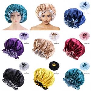 Lady Hats Wrap 7 Cap Elastic Fitted Satin Bonnet Hair Flexible Women Beanie Turban Fashion Silk 45ba Cowl Durags Circular Head Crumpl bbyUF