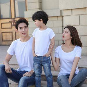 10 PCS / Lot 100% Модель Обычная футболка оптом Полиэстер Материал пустой белый Мужчины футболка для сублимации машины