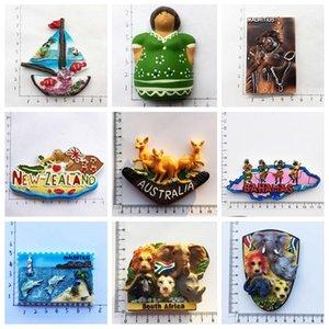 Buzdolabı Mıknatıslar Souvenir Malta Guatemala Mauritius Bahamalar Afrika Big Five Avustralya NewZealand Buzdolabı Çıkartma Dekor C0927