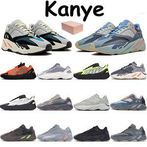 Nuevo 700 kanye zapatillas verde azulado de carbono azul naranja fosforescente tephra sólido gris VANTA de triple utilidad analógicas negro para hombre de color malva estática zapatillas de deporte