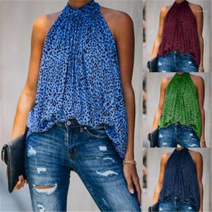 Casual confortable T-shirts Femmes en mousseline de soie imprimé léopard Top Tendance mode en vrac manches col rond T-shirt Desinger Nouveau Femme