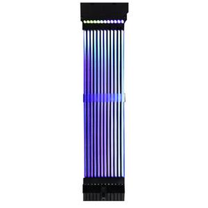 E-ATX / ATX / Micro ATX Anakart Kablolar Güç RGB PSU Hattı 24pin Neon Hattı PC Anakart Güç Uzatma Adaptörü Kablosu