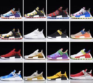 Solar pack nuova NMD Pharrell Williams Madre BBC Nero Giallo delle donne degli uomini razza umana scarpe da corsa pallido dimensioni Nude Nerd Cream Sneakers 36-46