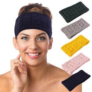 New Women Winter Warmer Plush Wide Wool Hairbands Knit Crochet Twist Headband Turban for Girl Hair Accessories