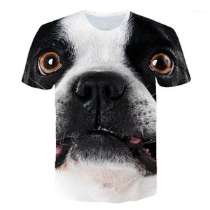 Sleeve Couple Clothing Dogs Cute Style Casual Apparel Mens Summer 3D Print Designer Tshirts Crew Neck Short