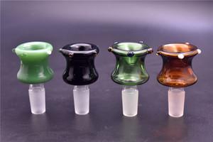 nouveau 14mm 18mm Homme Arriver Bols en verre coloré US couleur Smoking bols pièces pour le verre d'eau Pipes huile Dab Rigs
