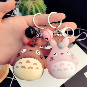 Keychain сосед Sound Colle Key Charms с Chinchilla Car Chains My Charman Cantend Bag Totoro Keyring Кошелек для животных Аксессуар AIMGR