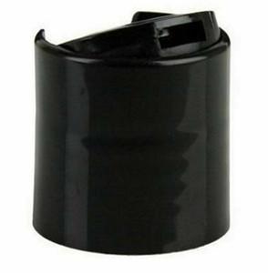 Preto suave Forrado Disc Dispensação Caps empurrar para baixo tampas de garrafa 24-410 distribuição 20/410 Preto suave Cap Flip Top