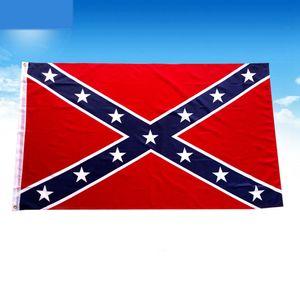 US 90x150 cm Confederate Rebel Civil War Flag Civil War Battle Sixie National Polyester Flags Two Sides Printed Flag LJJP116