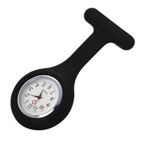 Relógios de relógios de bolso de moda relógios de silicone relógio broche túnica com bateria livre Reloj de Bolsillo J6