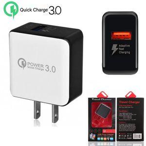 caricatore di iphone Quick Charge viaggio Power Adapter spina USA UE QC 3.0 Veloce caricabatterie da muro USB per iPhone X Samsung S10 S9