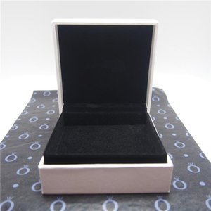 Big White Bracelet Paper Box Flat Foam With Cut For Pandora Ring Earrings Charm Bead Fashion Jewelry Packing Choose Wrapping Paper Or Not