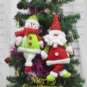 Christmas Decorations Merry Santa Claus Snowman Reindeer Pendant Toys Xmas Tree Hanging Plush For Children Gifts