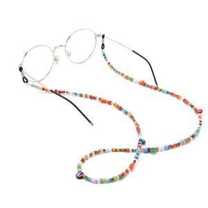 1PC Glass Fashion Womens glass Beaded Eyeglass Chains Sunglasses Reading Glasses Chain Eyewears Cord Holder neck strap Rope