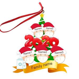 2/3/4/5/6 Noel Süs INS Kişiselleştirilmiş Karantina Noel ağacı pendents Noel Partisi Dekorasyon Hediyeler F91601 Aile Yüz Maskesi