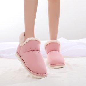 Kadın Basic 35-40 İçin Rahat Personel Ayakkabı On Flush Yuvarlak Burun Düz Topuk Kayma ile COOTELILI Kadınlar Bilek Boots Pamuk Boots