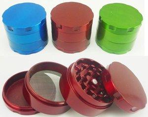 Marke Kräutermetallschleifer 4parts 50MM 60MM Hardtop Tabakmühlen Durchmesser Zink-Legierung Grind Farben Schleifer mischen
